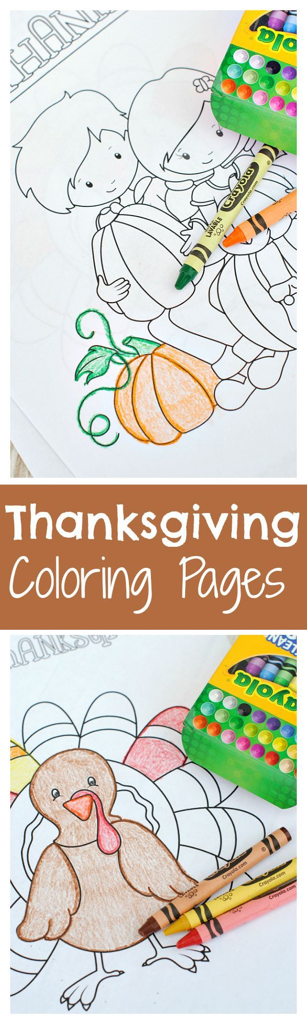 Perfect for the kiddos joining you this Thanksgiving, these coloring pages are sure to bring fun to your dinner!
