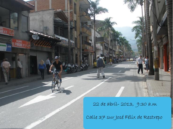 En el  sector del parque de Envigado  la mayoría de habitantes han acatado el llamado por parte de la alcaldía para ser partícipes de la jornada del día sin carro.