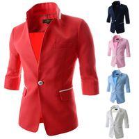 2015 mode roten Blazer männer blazer slim fit weiß blazer männer casual herren anzug herren blazer slim fit Neuankömmlinge für den herbst