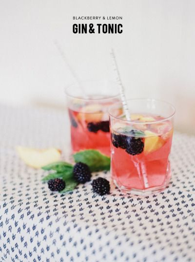 Blackberry and Lemon Gin & Tonic: http://www.stylemepretty.com/living ...