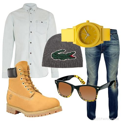 Timberland+kind+of+Day+|+Men's+Outfit+|+ASOS+Fashion+Finder