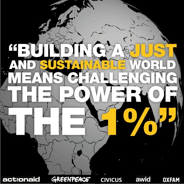 The World Social Forum opened today in Tunis and our message is clear: securing a just world means challenging power of the 1%.   SHARE if you agree and learn more here: http://oxf.am/ZfkL