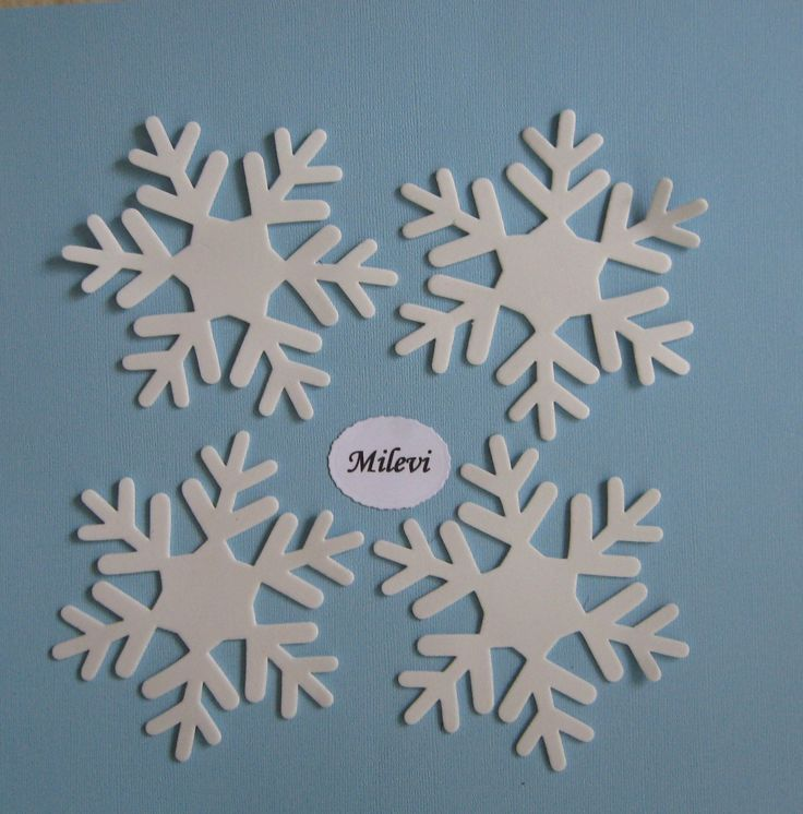 Hópehely - dekorgumiból - téli esküvők asztal- vagy terem dekorációjához, ültetőkártyának