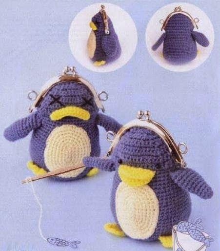 Mejores 464 imágenes de Monederos a crochet en Pinterest   Bolsos de ...