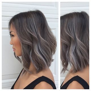 really short bob grey balayage - Google Search
