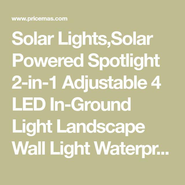 solar lightssolar powered spotlight 2in1 adjustable 4 led in