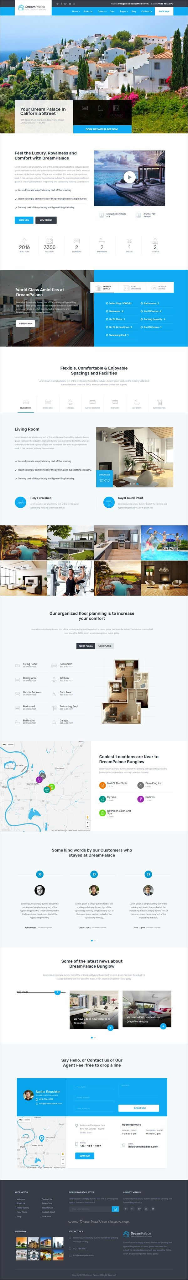 DreamPlace is a modern and trendy design 4in1 #WordPress theme for single #property real estate, #renting or selling #villa and apartments websites download now➩  https://themeforest.net/item/dreampalace-single-property-real-estate-theme/19193885?ref=Datasata