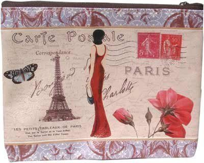 Travel Cosmetic Bag - Bonjour Paris by Bath Accessories. $8.50. Charming and sturdy, this bag will hold all the items you need to bring on quick trips or extended vacations. Flat 6 1/2x8