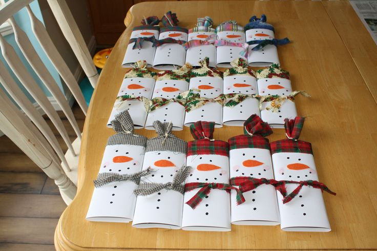 Co Worker gifts 2015 candy bar snowmen More