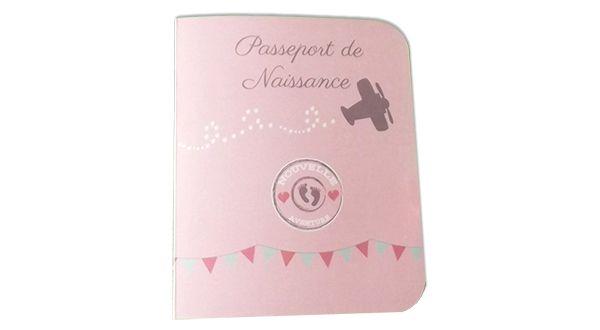 Faire Part Passeport Naissance Fille