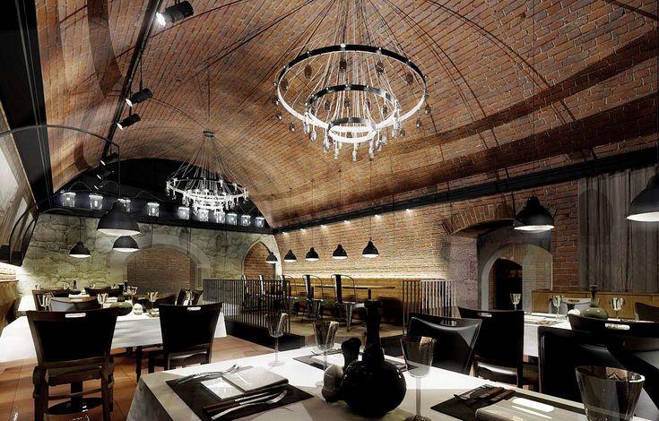 Restaurant Da Pietro in Krakow. Design, modern interior.