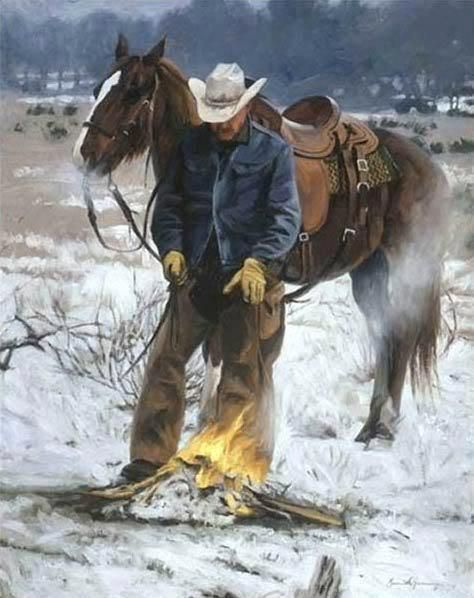 Warming fire from Barbara Mead.