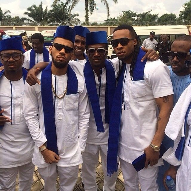 Aso-ebi Styles At Jude And Ify Okoye's Traditional Wedding   Complete Fashion