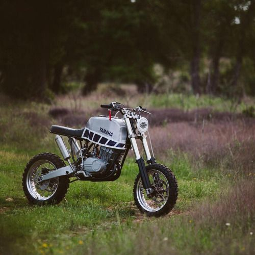 dropmoto: @threepence built this 1975 Yamaha RD350...  dropmoto:  @threepence built this 1975 Yamaha RD350 (@thetrail2016) and will be riding it across the Trans-America Trail next summer for the Childhood Leukaemia Foundation. Great work for a great cause. Shoot him a follow to stay in the know. @matthewjonesphoto #dropmoto #yamaha #yamahayardbuilt #yardbuilt #dualsport #rd350 #builtnotbought #vintagemotorcycle #enduro