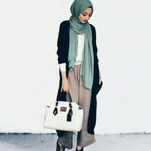 stylish casual hijab