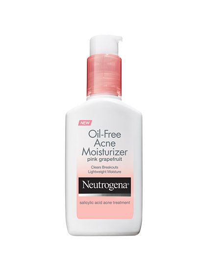 FOR OILY/ ACNE-PRONE SKIN Our favorite acne cleanser is now a moisturizer that softens skin while fighting breakouts with salicylic acid. That means you can go to town on zits—all day long.  Neutrogena Oil-Free Acne Moisturizer Pink Grapefruit, $6.49 (amazon.com).