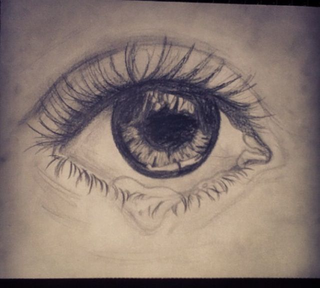 Sad eye #eye #sketch #drawing | [project: emotie ...