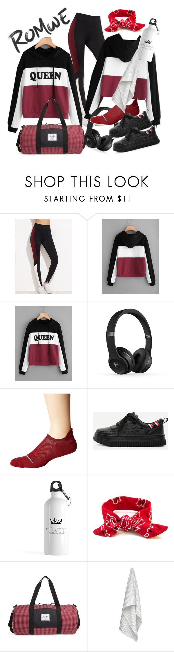 """""""ROMWE Queen"""" by cigoehring ❤ liked on Polyvore featuring NIKE, Herschel Supply Co. and The Organic Company"""
