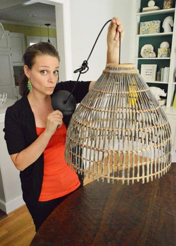 Turning a basket into a lamp shade Young House Love - One young family + one old house = love. - Part 5