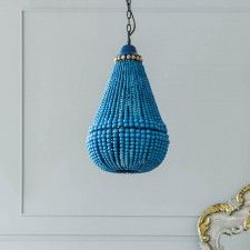 Loire Blue Bead Chandelier
