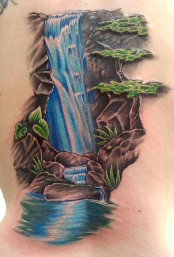 10 Waterfall Tattoo