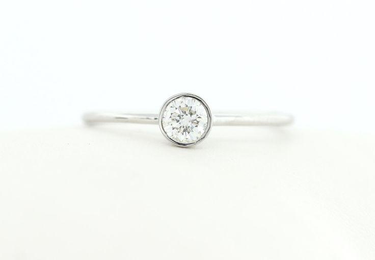 Popular items for bezel diamond ring on Etsy