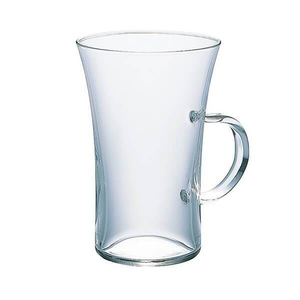 """The specially designed Hario """"Hot"""" Glass  is perfect as drinking glass or you can brew straight into it with a pour over setup.   Made form heat resistant borosilicate glass it can be used to enjoy hot or cold beverages."""