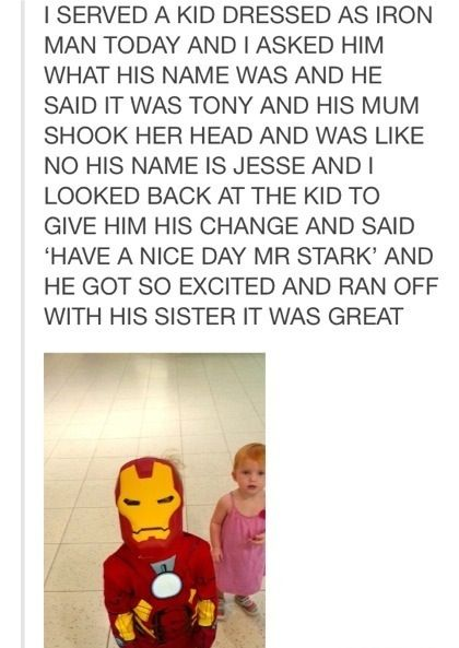 Mr. Stark.Awww, Humanity Restored, Awesome, Iron Man, Funny Little Kids, Human Restoration, Kids Childhood, Smile, Faith Restoration