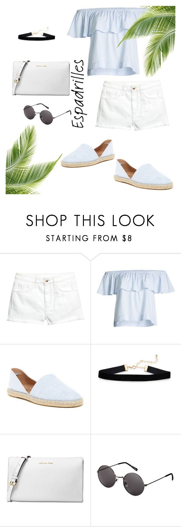 """Untitled #90"" by agbuteraa ❤ liked on Polyvore featuring H&M, Anine Bing, Sheridan Mia, Michael Kors, Summer, tropical and espadrilles"