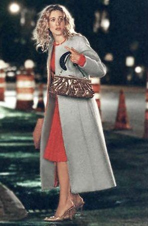 Pin for Later: Carrie Bradshaw's 60 Most Memorable Outfits Season Four Carrie, all alone on her birthday, in Prada and Fendi.