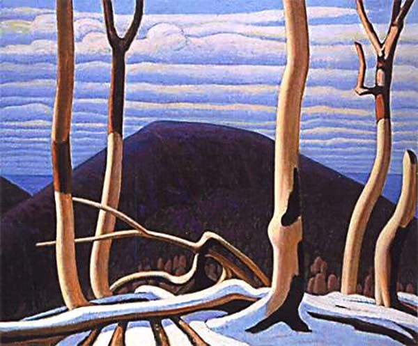 """Above Lake Superior"" oil painting, 1922, by Lawren Harris. Idealism. The Painter's Keys."