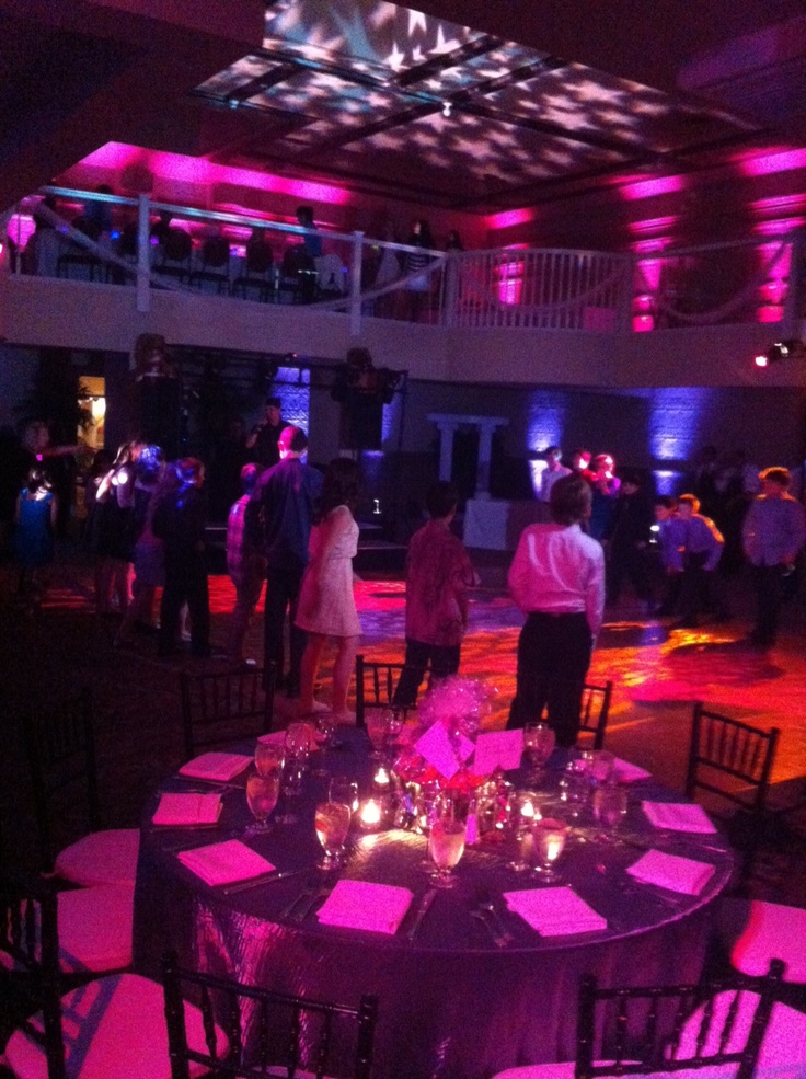Bar Mitzvah Lighting for a wonderful event in Los Gatos CA