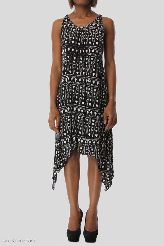 Indonesian Batik Vest Dress | SHUGAKANE