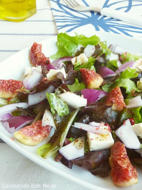 Salad with figs. Ensalada de higos.