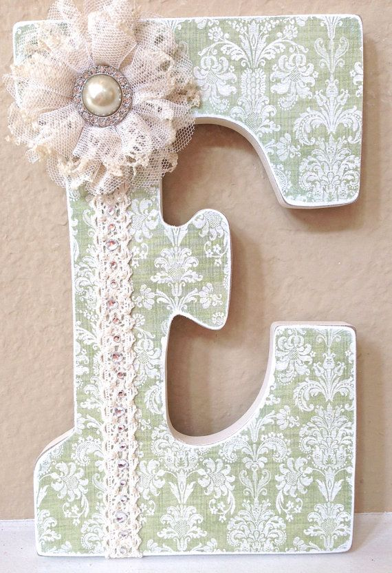 Custom Nursery Letters- Baby Girl Nursery Decor- Personalized Name- Wooden Hanging Letters - Nursery Wall Letters- The Rugged Pearl