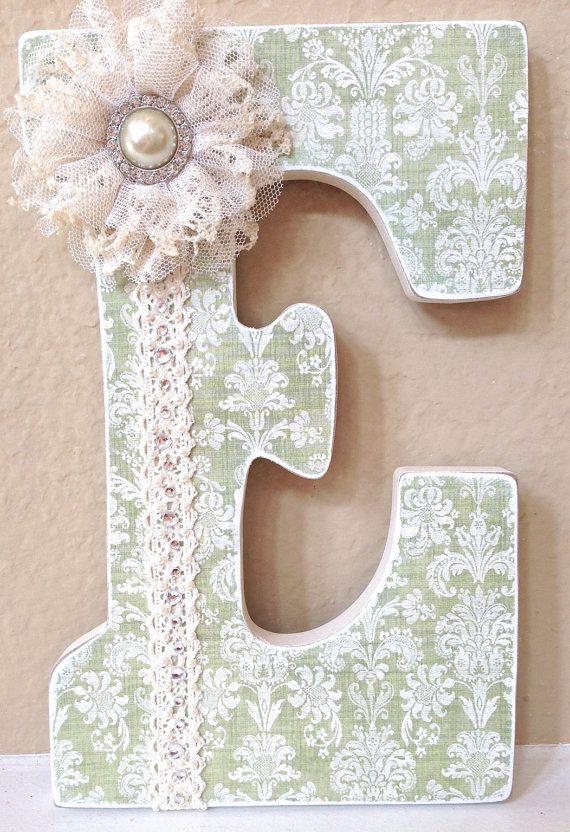 Custom Nursery Letters Baby Girl Nursery Decor by TheRuggedPearl, $20.50
