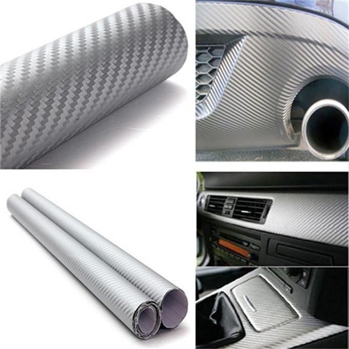 127X30cm 3D Black Carbon Fiber Vinyl Film Carbon Fibre Car Wrap Sheet Roll Film 12 Colors