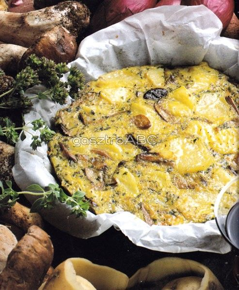 Gombás-burgonyás omlett | Receptek