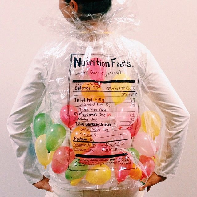 Jelly Beans: Just one of 40+ ways to dress up like your favorite food for Halloween this year.