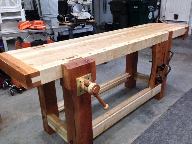 Roubo Bench with Criss Cross Leg Vise - by CL810 @ LumberJocks.com ~ woodworking community