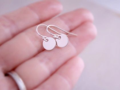 Sterling Silver Disc Sequin Earrings