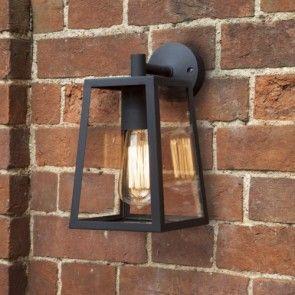 Lámpara de pared Calvi Negro, lámpara exterior de Astro en Tendenza Store