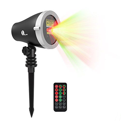 1byone Aluminum Alloy Outdoor Laser Christmas Light with IR Wireless Remote, Red and Green Laser Show, Projection Christmas Light… #deals