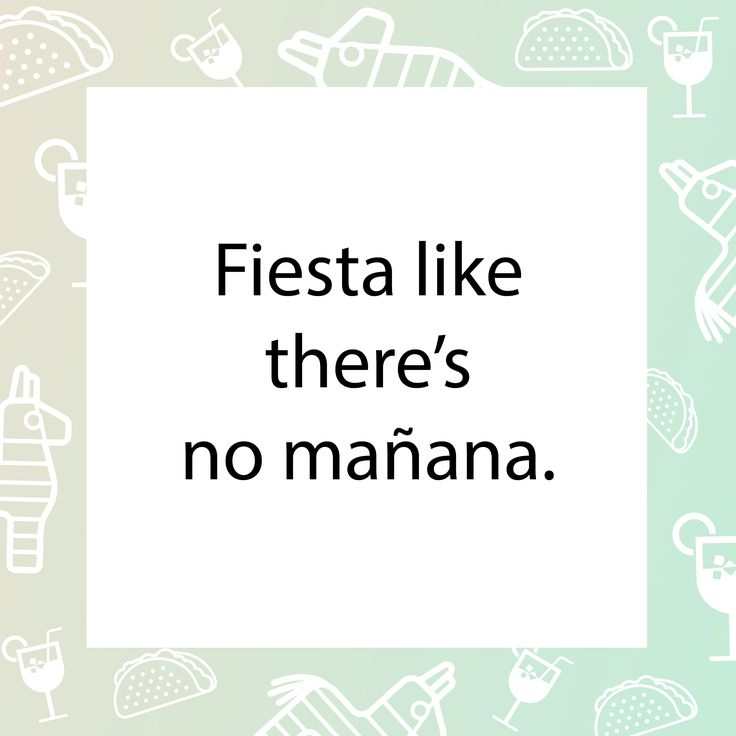 More like siesta...