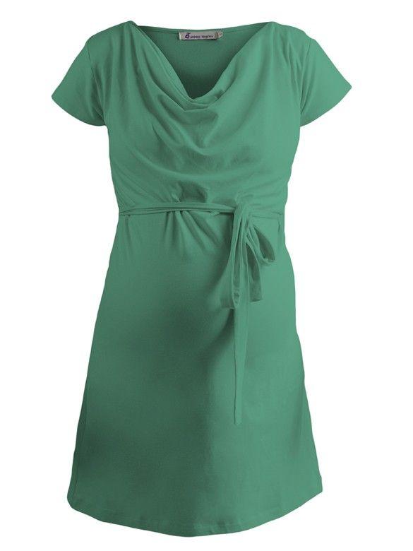 Cotton Jersey Tunika zelená - Queen Mum   BabyBelly.sk   Tehotenská a materská móda