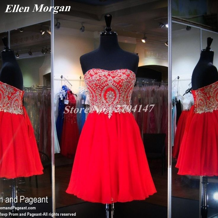 Red Chiffon Homecoming Dresses Sexy Sweetheart Corset Lace Knee Length A Line Party Back to School Graduation For Girls 2017
