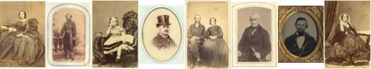 Lost Faces - thousands of identified photographs from the 1800s. This website has names listed of photo albums that have been rescued from flea markets.