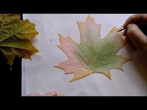 МК Кленовый лист из фоамирана. Автор: Козьякова Юлия . - YouTube