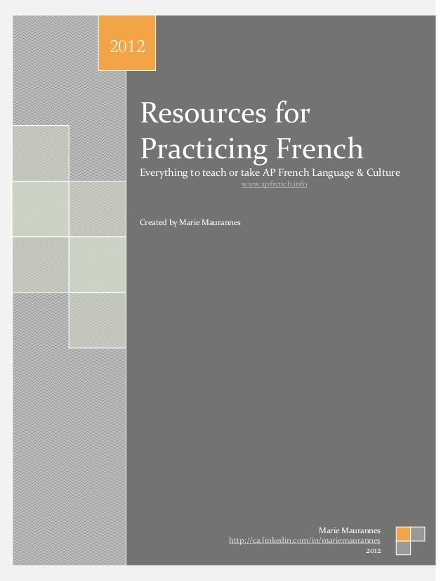 Resources ap french