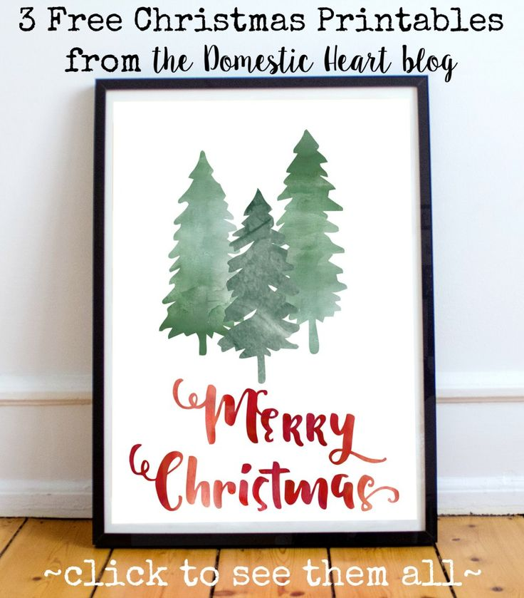 "Free ""merry Christmas"" printable at TheDomesticHeart.com"